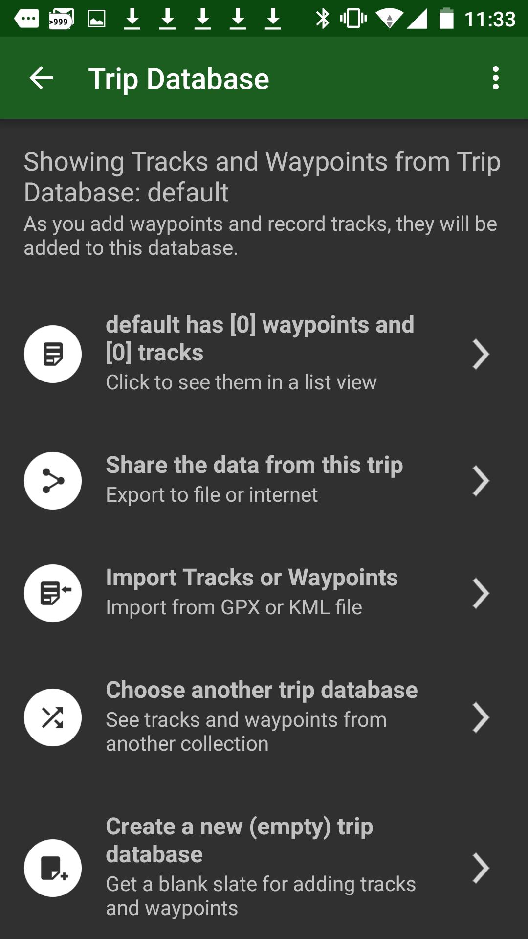 importation des données de voyages (trajets) au format GPX