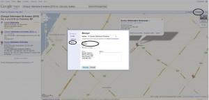 envoi de coordonnées de Google Maps dans un GPS
