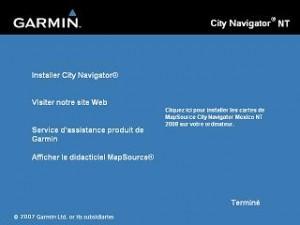 installation City Navigator NT