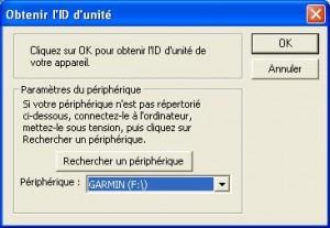 Obtenir l'ID d'unité Garmin
