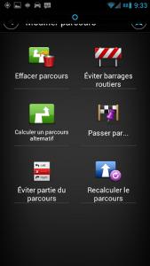 modification du parcours sur tomtom Android