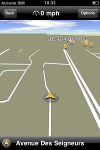 iPhone Navigon map3d